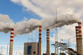 Ağır sanayi. güç istasyonu - polonya. — Stok fotoğraf
