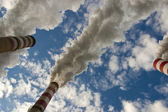 Big pollution in coal power station - Poland. — Stock Photo