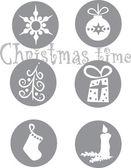 Sechs weihnachten-symbole — Stockvektor