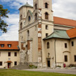 Benedictine monastery - Cracow Tyniec, Poland. — Stock Photo