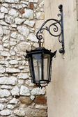 Street lamp - Benedictine monastery, Tyniec — Stock Photo