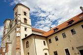 Buildings of Benedictine monastery - Tyniec — Stock Photo