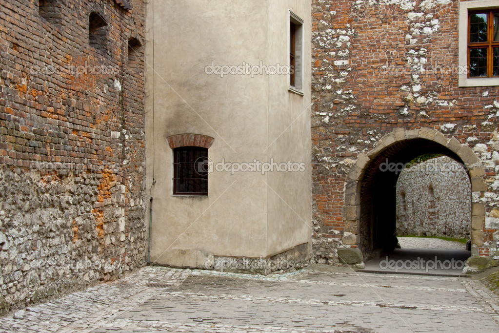 Stony wall of  Benedictine monastery in Tyniec - Poland. — Stock Photo #13672084
