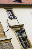 Sucha Beskidzka palace - street lamp. — Stock Photo