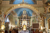 Interior of church holy Apostles Peters and Pawel in Lachowice. — Foto Stock