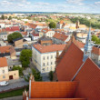 Chelmno old town - aerial view. — Stock Photo