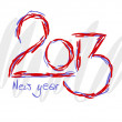 2013 text for new year - colorful illustration. — Stock Vector