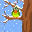 Sparrow on the branch. — Stock Vector #14332707