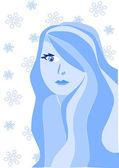 Beauty young winter women — Stock Vector