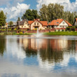 Modern housing estate - Poland - Stock Photo