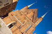 Front of Cathedral in Frombork. — Stock Photo