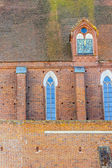 Wall of Assumption NMP and Holly Andrzej Cathedral in Frombork. — Stock Photo