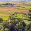 Aerial view on rural — Stock Photo