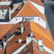 Close up to red roofs - Reszel, Poland. — Stock Photo