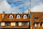 Red tiled roofs - Reszel, Poland — Stock Photo