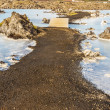 Gravel path in Blue Lagoon - Iceland — Stock Photo #14939823