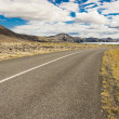 Empty asphalt route - Iceland. — Stock Photo
