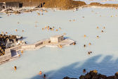 Aerial view on Blue Lagoon - Iceland — Stock Photo