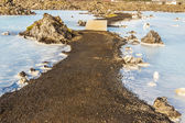 Gravel path in Blue Lagoon - Iceland — Stock Photo