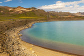 Blue beauty lake - Kleifarvatn, Iceland. — Foto de Stock