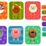 Animals from farm — Stock Vector