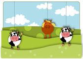 Animals marionette — Stock vektor