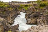 небольшой мост на реке - исландия. — Стоковое фото