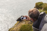 Photographer with digital camera - Iceland — Stockfoto