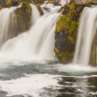 Rapid river and waterfall - Iceland, Westfjords. — Foto de Stock