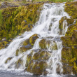 Waterfall - Westfjords, Iceland. - Stock Photo