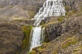 Beauty big Dynjandi waterfall - Iceland, Westfjords. — Foto de Stock