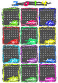 Calendar for 2014 year — Vecteur