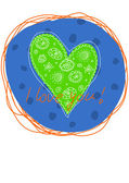 I love you my green earth — Stock Vector
