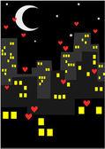 City at night — Stock Vector