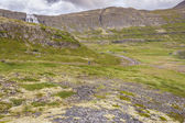 Route to Dynjandi waterfall - Iceland. — Stock Photo