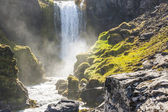 Dynjandi waterfall - Iceland. — Stock Photo