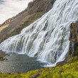 Waterfall Dynjandi - Westfjords, Iceland. — Stock Photo