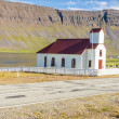 Small wooden church in Reykjanes - Iceland. — Foto de Stock