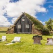 Old wooden Vidimyri Church - Iceland. — Stock Photo
