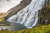Waterfall Dynjandi - Westfjords, Iceland. — Stock Photo