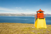 Small lighthouse - Arnarnes, Iceland. — Foto Stock