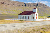 Small wooden church in Reykjanes - Iceland. — Stock Photo