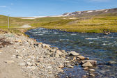 Icelandic river in Unadsdalur. — Stock Photo