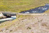 страна маршрут до unadsdalur деревни - исландия, вестфирдир. — Стоковое фото