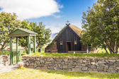 Frente da igreja de vidimyri - islândia. — Fotografia Stock