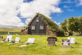 Old wooden Vidimyri Church - Iceland. — Stok fotoğraf