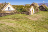 Typical Icelandic farm - Glaumber, Iceland. — Stock Photo