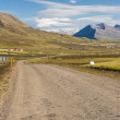 Gravel mountain route from Brunastadir village to Olafsfjordur — Stock Photo #18413317