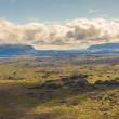View from hverfjall volcano - Iceland. — Stock Photo