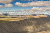 View from top of hverfjall volcano - Iceland. — Stock Photo